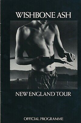 """WISHBONE ASH official UK programme for """"New England"""" 1976 Tour with 7"""" flexi"""