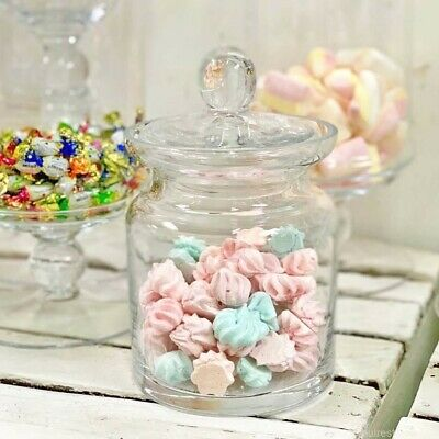 Glass clear Handmade Serving Bonbon Jar Candy Food chocolate Container 21 cm H