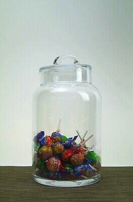 Glass large Handmade Serving Bonbon Jar Candy Food chocolate Container 28 cm H