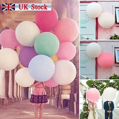 5x Round Latex Balloons 12/36 Inchs Wedding Decor Helium Big Large Giant Ballons