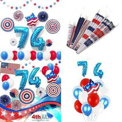 4Th Of July Decorations Set American Flag Element Patriotic Supplies Including 1