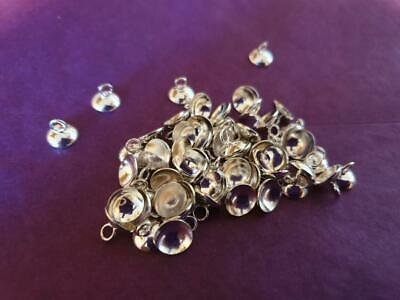 Silver plated bead caps for pendants approx 8mm