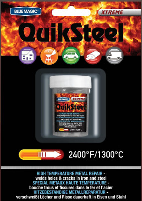 Quiksteel Extreme Temperature Steel Epoxy Putty - 3oz Pack - 18003 - up to 1316C