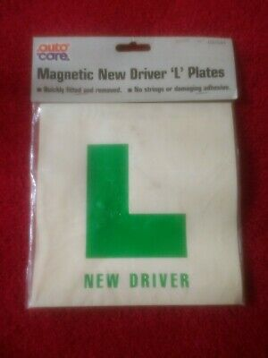 Magnetic L Plates For New driver NEW