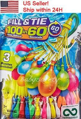 6 Packs Bunch O Balloon style  666 Pcs Self-Sealing Instant Water Balloons,