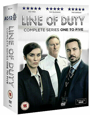 Line of Duty Series 1-5 DVD Box Set Brand New Sealed Fast 24 Hour Quick Delivery