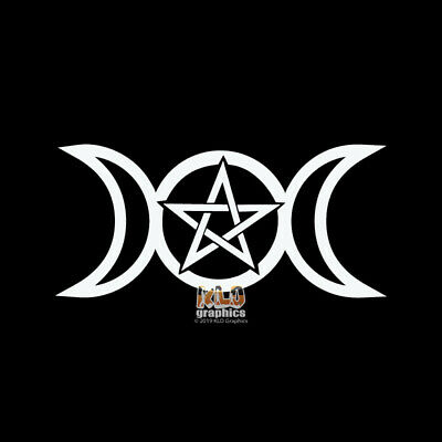 Pagan Triple Goddess Witchcraft Symbols Sticker Decal Graphic Vinyl Label Black