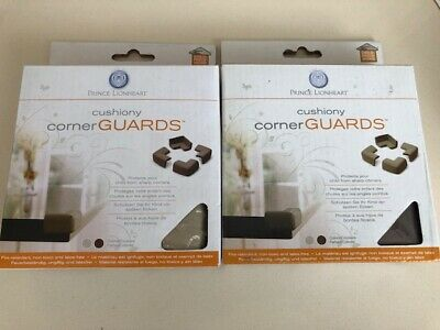 Prince Lionheart Cushiony Corner Table Edge Guards - Pack of 4 Grey OR Brown