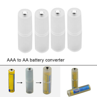 4x AAA to AA Size Battery Converter Adapter Battery Holder Case Switcher Plas SU