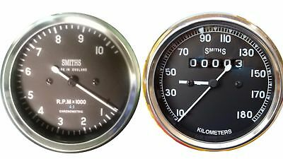 BLACK 100 MM With dia Motor Cycle Speedometer M18x1.5 thread kph