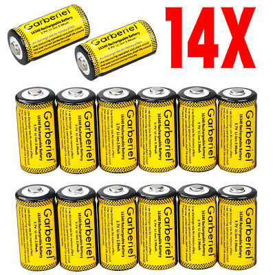 14-Pack 3.7 Volt Lithium Rechargeable 16340 CR123A Battery Flashlight High Power