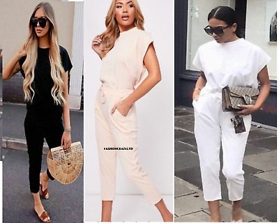Womens Ladies Short Sleeve Boxy Lounge Wear Tracksuit Set Casual Comfy Two Piece