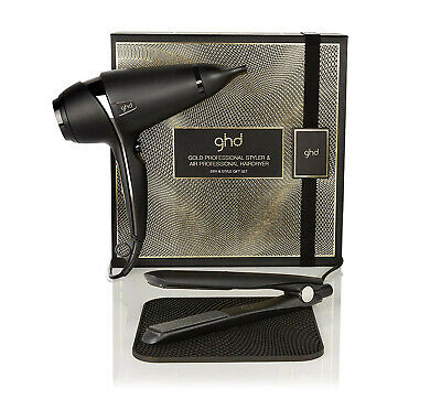 NEW GHD Gold Proffessional Styler And Air Professional Hairdryer Gift Set, GHD's