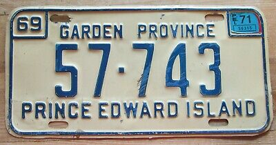 Prince Edward Island 1971 License Plate # 57-743
