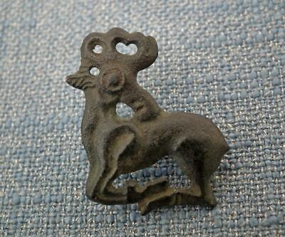 Ancient Scythian Bronze Deer Fibula Brooch 6th-4th Century B.C.