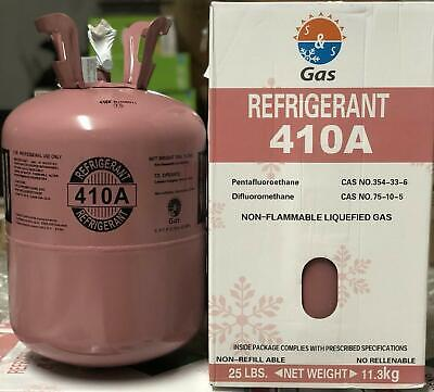 R410a, R-410A Refrigerant 25lb tank. New Factory Sealed **Lowest Price on Ebay**