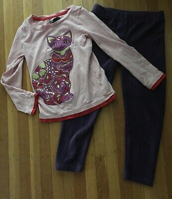 Girls Lot Of 2 Gap Kids Shirt Jumping Beans Leggings Size:4/5 GUC