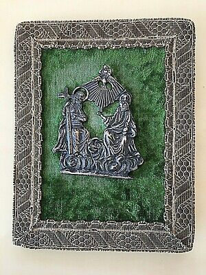 Antique Small Travel Catholic Sterling Silver Icon !
