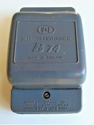 Vintage Electric Door Bell or Chime Transformer - V&E - Working - Made in UK