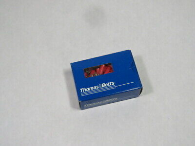 Thomas & Betts 18RA-6F Fork Pressure Terminal Connector Lot of 100 PINK  NEW
