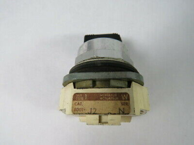 Allen-Bradley 800T-J2 Series N Selector Switch No Contacts 3-Position  USED
