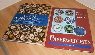 TWO Books on Antique GLASS PAPERWEIGHTS - Clichy BACCHUS St Louis WHITEFRIARS
