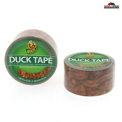 Duck Brand Duct Tape ~ 2 Rolls Bacon ~ NEW