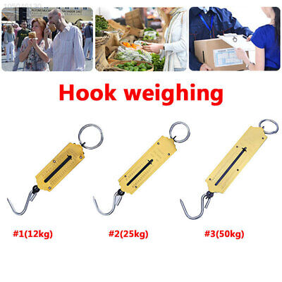 Heavy Duty Hanging Hook Handheld Mechanical Weighing Spring Scale Luggage 50kg