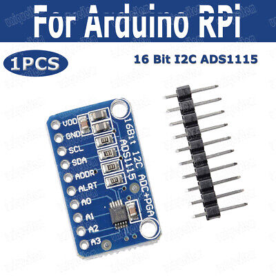 16-Bit I2C ADS1115 Module ADC 4 Channel With Pro Gain Amplifier For Arduino RPi~