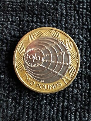 Very Rare And Collectable Marconi £2 Coin 2010 Good Condition Circulated