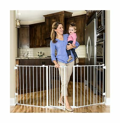 Regalo 76 Inch Super Wide Configurable Baby Gate, 3-Panel, Includes Wall Moun...