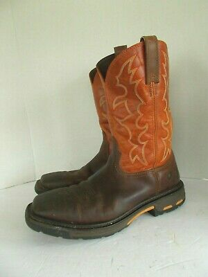 7c3ec7a0bfd ARIAT WORKHOG BROWN Square Steel-Toe Boots, Men's Size 12D, #10005888