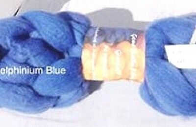 wool roving Delphinium Blue 10g -100g 29 or 22 micron