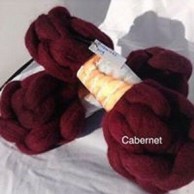 wool roving Cabernet 10g -100g 29 or 22 micron