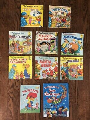 Lot of 10 Berenstain Bears Childrens Picture Books Stan and Jan Hard Soft Cover