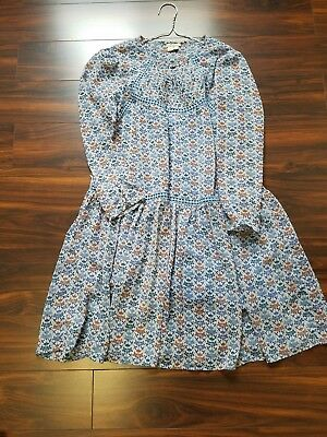 9f668f0fde3b Betony Holding Horses Anthropologie Size 6 Blue Floral Swing Lined dress