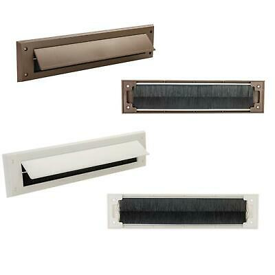Letterbox Draught Seal White Or Brown Letter Box Excluder Flap Excluders New