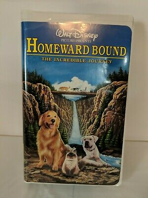 Homeward Bound: The Incredible Journey (VHS, 1998, Clam Shell) Walt Disney