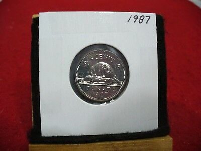 1987  Canada  1  Nickel 5 Cents  Coin  Proof Like Sealed   High  Grade