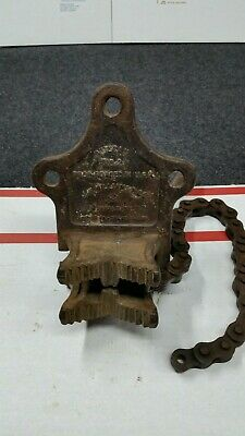 """Jh Williams Vulcan No2 Chain Bench Pipe Vise 1/4"""" To 4"""" Cap Usa Vintage"""