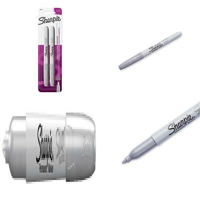 Sharpie 39108PP Fine Point Metallic Silver Permanent Marker, 2-Count,