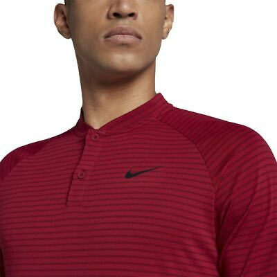 89c24319d Nike Golf TW Zonal Cooling Stripe Blade Polo Tiger Woods 932175 618 Red  Crush