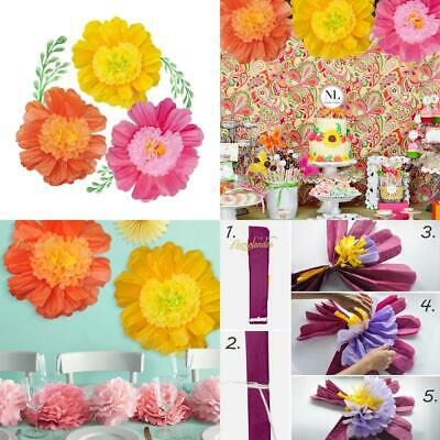 24 6 Pack Set Large Tissue Paper Flowers Handcrafted Giant For
