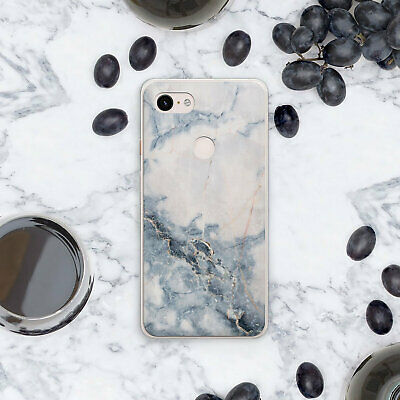 Grey Stone Case For New Google Pixel 3 XL Marble Silicone Pixel 2 XL Cover Pixel