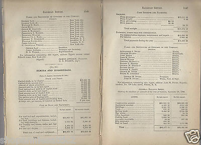 1880 NEW YORK RR report ELMIRA & HORSEHEADS RAILROAD Vintage NY train paper