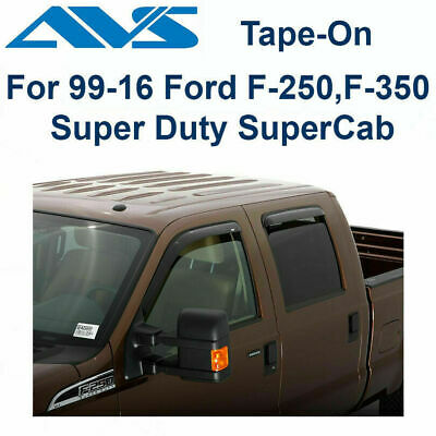 99-13 Ford F250 F350 Extended Cab Super Cab Window Vent Shade Acrylic Visors