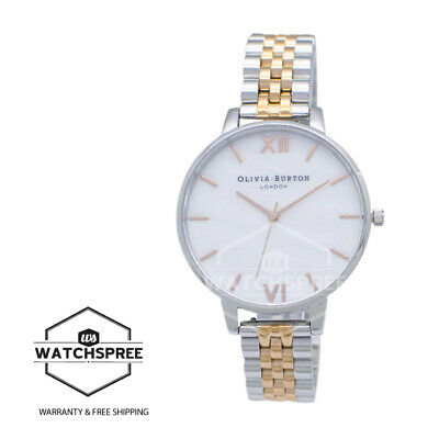 Olivia Burton Ladies' Mother Of Pearl Rose Gold & Silver Watch OB16MOP06