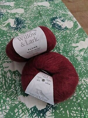 Willow and Lark Plume - lace kniting yarn - new - Mamalade, grey, berry red