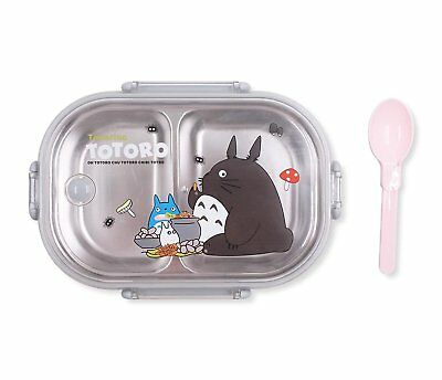 d551d42892ee FINEX TOTORO STAINLESS Steel Bento Lunch Box Set with Lid and Spoon / 2  Dividers