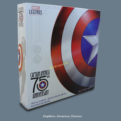 Marvel Legends Captain America 75th Anniversary Avengers Shield Alloy Metal Prop